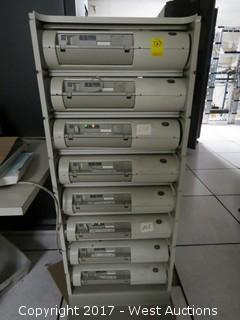 IBM Server Rack System with (8) IBM 9034 Server Units