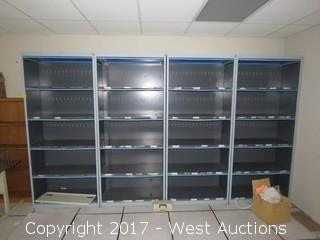 (4) Steel Cabinets 6.5'