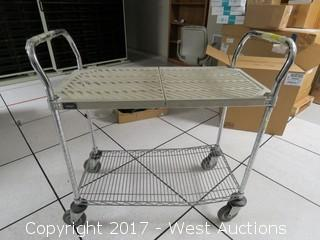 Utility Cart Metal with 2 Shelves