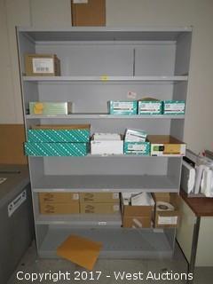 Steel Shelf 6' x 3' with Office Supplies