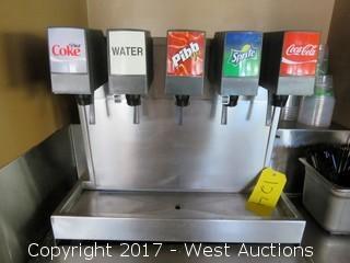 Imi Cornelius Inc. 5 Fountain Soda Dispenser with Co2 System.