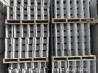 1 Pallet Masonry Block - 8x8x16 Grout Lock Precision Grey Lightweight