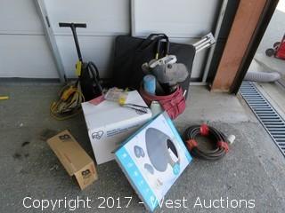 Bulk Lot: Welding Helmet, Hand Tools, Bins