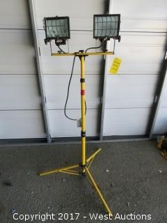 Dual 500-Watt Industrial Light with Stand