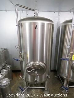 Stainless Steel 10 BBL Brite Serving Tank