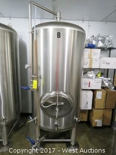 Stainless Steel 10BBL Brite Serving Tank (Full Of Beer)