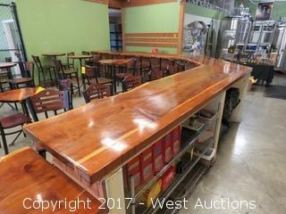 Custom Wood Tasting Bar Countertop  (top only)