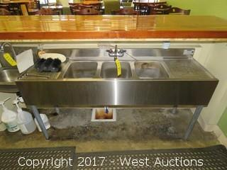 Krowne Stainless Steel 3-Basin Bar Sink