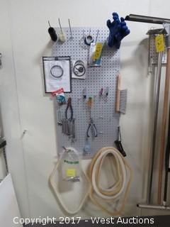Tool Pegboard with Tools - Screwdrivers, Wrenches, Gaskets