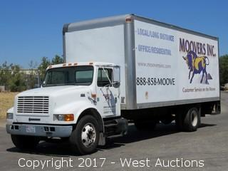 1999 International 4700 DT66E 24' Box Truck with Lift Gate
