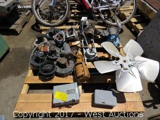 Pallet: Various Fans and Pumps