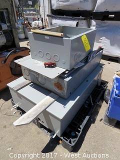 Pallet; (3) Control Units