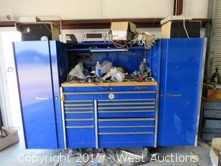 Snap-On Royal Blue Tool Chest with (2) Lockers and All Tools