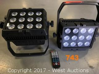 (2) LED 12-6in1 Wireless PAR