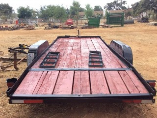Car Trailer 16' with Electric Winch and Ramps