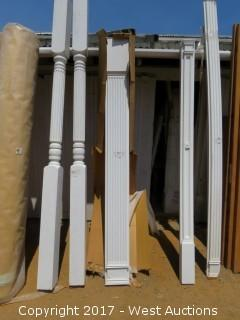 (4) Fluted Poly Pilasters 8' x 9""