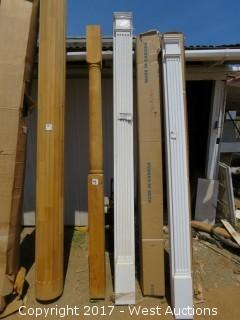 "(2) Fluted Poly Pilasters 102"" x 7"""