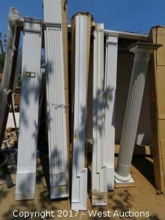 (4) Poly Corner Pieces Top Molding 8' x 6""