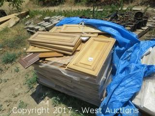 Pallet of Assorted Wooden Cabinet Doors