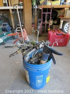 Bucket of (11) Caulking Guns