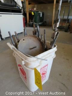 Bucket of Aprox. (17) Drill Bits