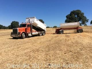2000 Peterbilt 379 Transfer Dump Truck and 1989 Reliance Trailer