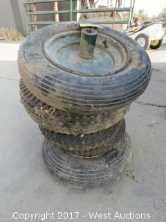 (5) Pneumatic Wheelbarrow Tires