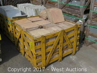 "(1) Crate of India Pantera Light 12"" x 12"" Sandstone,  Ungauged"