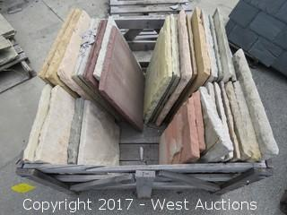 (1) Crate of Assorted Sandstone Pavers