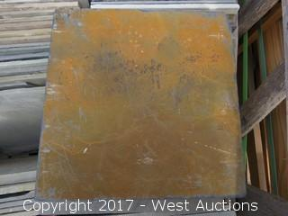 "(1) Crate of Assorted 12"" x 12"" Slate"