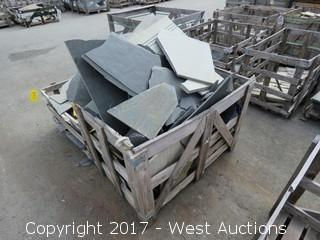 (1) Crate of Slate Remnants