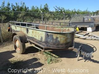 Custom Built Steel Sided 12' Trailer