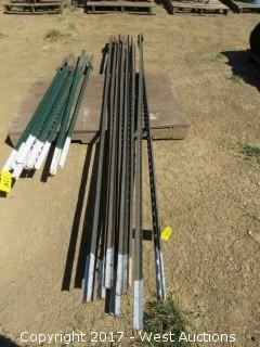 (8) Steel Fence T-Posts