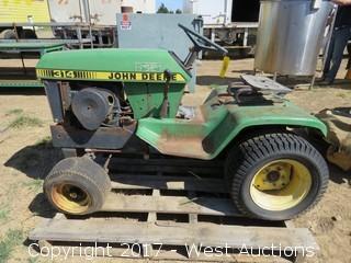 John Deere 314 Garden Tractor