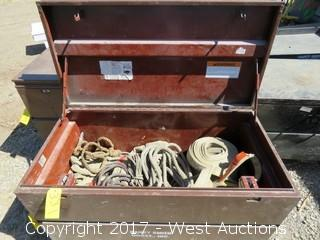 Contents of Job Box - Straps, Rope, Slings