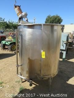 Stainless Steel 300 Gallon Mixing Tank