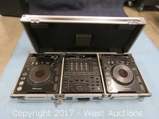 (1) Pioneer DJM-500 DJ Mixer (2) CDJ-1000MK2 CD Deck with Portable Road Case