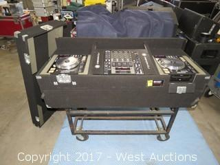 (1) Denon-X1500 (2) DN-S5000 CD Deck with Road Case