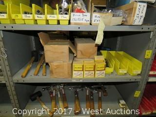 Bulk Lot: (3) Mallets, (4) Boxes of Clout Nails, Drive Sockets