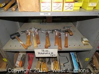 Bulk Lot: (10) 16 oz. Hammers, (1) Mallet