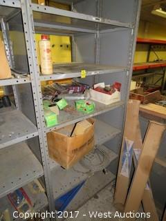 Bulk Lot: Contents of (6) Shelves: Motor Oil, Wood Hole Saw, Tape Measures, Carpet Tacks