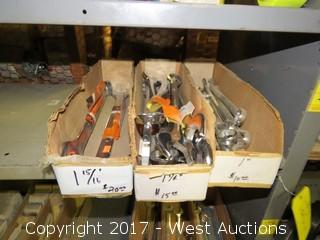 (3) Boxes of Wrenches on Shelf