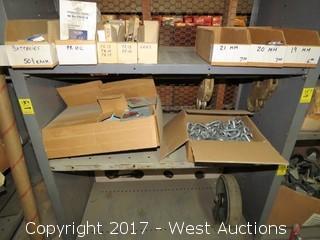 Shelf of (2) Boxes of Various Hardware: Links, Lantern Lampz