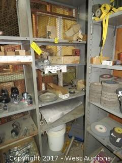 Bulk Lot: Contents of (5) Shelves: Wrenches, Nozzles, Clamps,