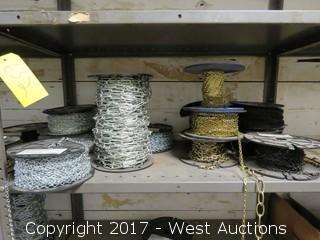 Bulk Lot: (12) Spools of Various Chain