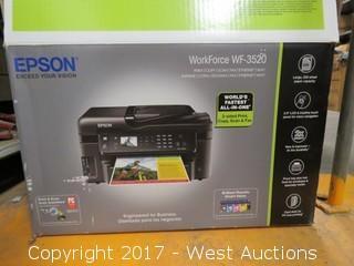 (1) Epson WorkForce WF-3520 Printer/Copier in the Box