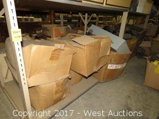 Shelf of (4) Westinghouse Busway Fusible Switch Boxes and Misc. Boots