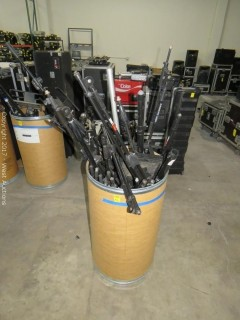 Bulk Lot: (10+) Mic Stands and Parts (Entire Bucket)