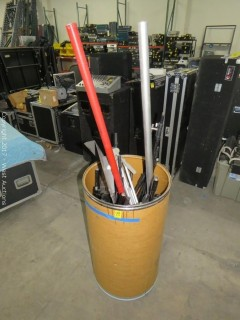 Bulk Lot: (13+) Mic Stands and Parts (Entire Bucket)