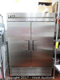 True T-49F Two Door Reach in Freezer with Kitchen Accessories